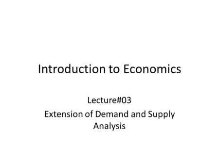 an introduction to elasticity of demand Economics basics: introduction economics basics: what is economics  income elasticity of demand for bob's air travel is 7, which is highly elastic.