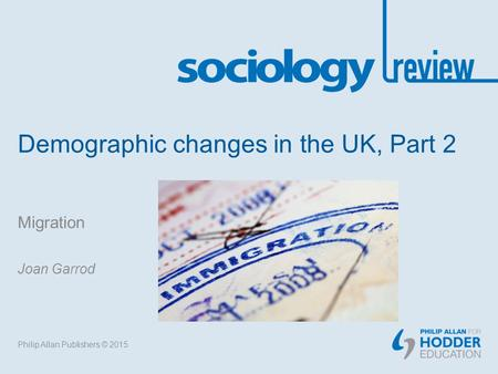 Demographic changes in the UK, Part 2