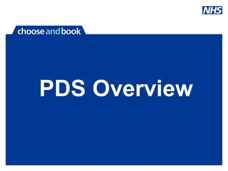 PDS Overview. Overview of the PDS What is it Replacing? The relationship of PDS & C&B Data Quality Issues Contacts.