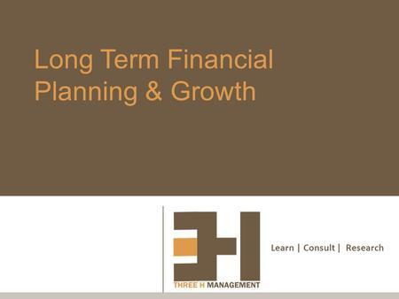 long term growth business plan