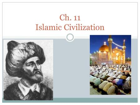 Ch. 11 Islamic Civilization. 11.1 – The Rise of Islam.
