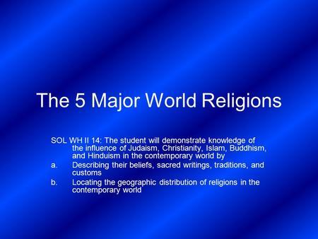 Religions essay