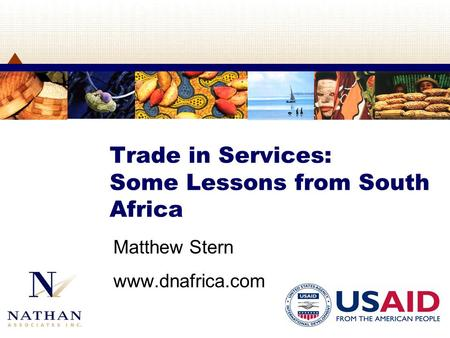 Trade in Services: Some Lessons from South Africa Matthew Stern www.dnafrica.com.