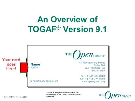 An Overview of TOGAF® Version 9.1