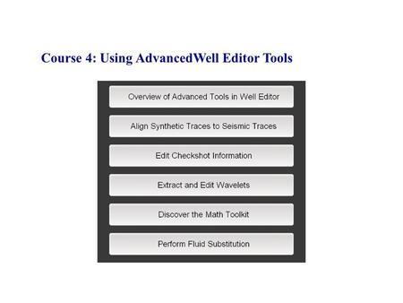 Course 4: Using AdvancedWell Editor Tools. Log curves are resampled.