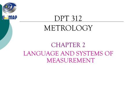 LANGUAGE AND SYSTEMS OF MEASUREMENT