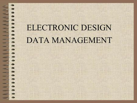 ELECTRONIC DESIGN DATA MANAGEMENT. Directory Structure (GEOPAK Road Manual Chapters 1 & 2) MicroStation/GEOPAK files are stored in the t drive under t:\de-proj\county_designation\jobnumber.