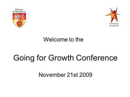 Going for Growth Conference November 21st 2009 Welcome to the.