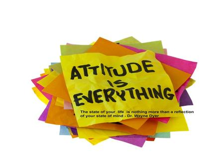 Attitude:- frame of mind, opinion, outlook, perspective, point of view.