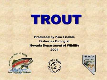 TROUT Produced by Kim Tisdale Fisheries Biologist Nevada Department of Wildlife 2004.