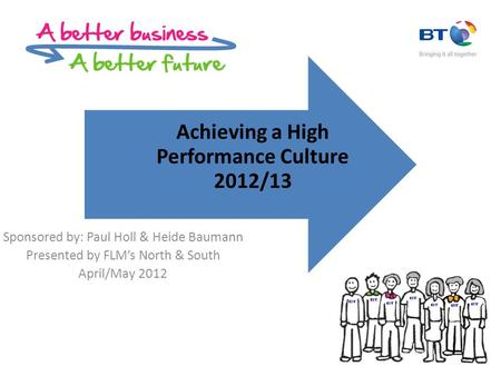 Sponsored by: Paul Holl & Heide Baumann Presented by FLM's North & South April/May 2012 Achieving a High Performance Culture 2012/13.
