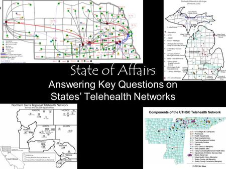 State of Affairs Answering Key Questions on States' Telehealth Networks.