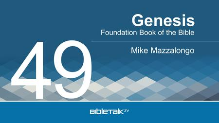 Foundation Book of the Bible Mike Mazzalongo Genesis 4 9.