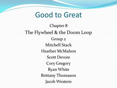The Flywheel & the Doom Loop