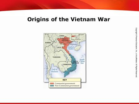 TEKS 8C: Calculate percent composition and empirical and molecular formulas. Origins of the Vietnam War.