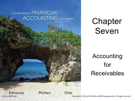 Accounting for Receivables Chapter Seven McGraw-Hill/Irwin Copyright © 2013 by The McGraw-Hill Companies, Inc. All rights reserved.