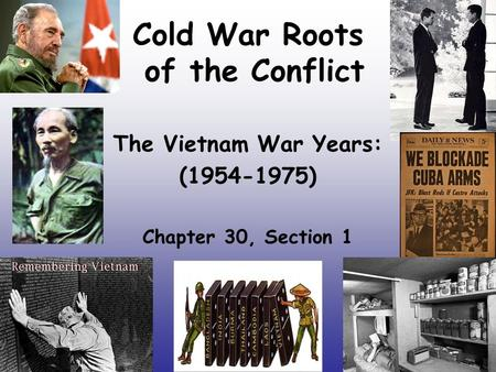 Cold War Roots of the Conflict