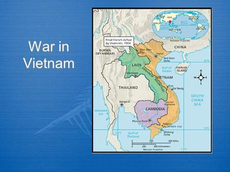 War in Vietnam. Background  Like Korea, Vietnam was split up into two sections after WWII  North Vietnam, led by Ho Chi Minh, was communist  South.