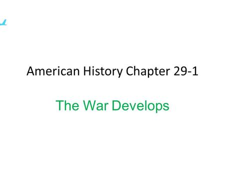 American History Chapter 29-1