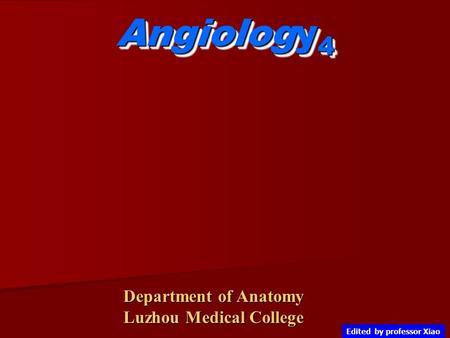 Angiology4 Department of Anatomy Luzhou Medical College