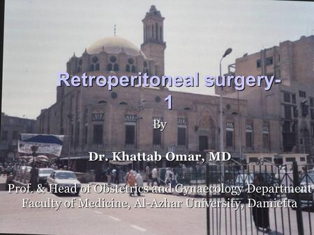Retroperitoneal surgery-1