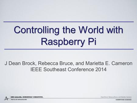 Controlling the World with Raspberry Pi
