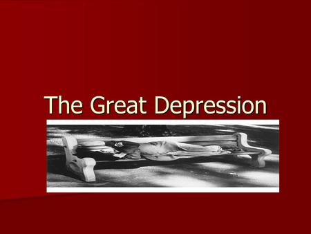 The Great Depression. An Economic Crisis Companies sell stocks – shares of ownership- to raise money. Companies sell stocks – shares of ownership- to.