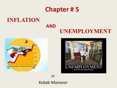 INFLATION BY Kokab Manzoor AND UNEMPLOYMENT Chapter # 5.