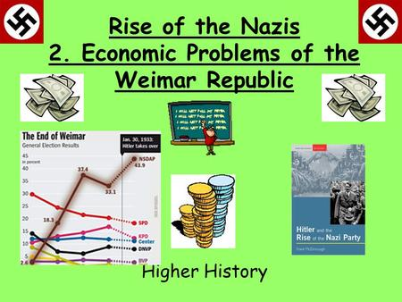 Rise of the Nazis 2. Economic Problems of the Weimar Republic Higher History.