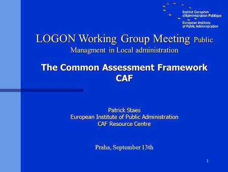 The Common Assessment Framework CAF