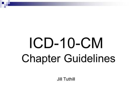 ICD-10-CM Chapter Guidelines