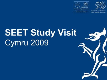 SEET Study Visit Cymru 2009. Elin McCallum Enterprise Education Manager Welsh Assembly Government.