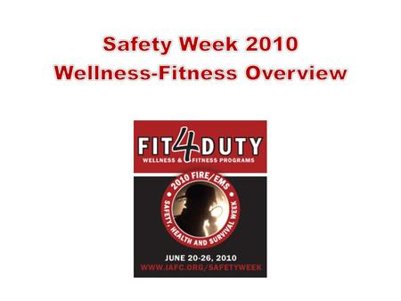 What is Wellness-Fitness? Occupational safety and health Diet and exercise Mental health Awareness - exams and screenings Individual responsibility.