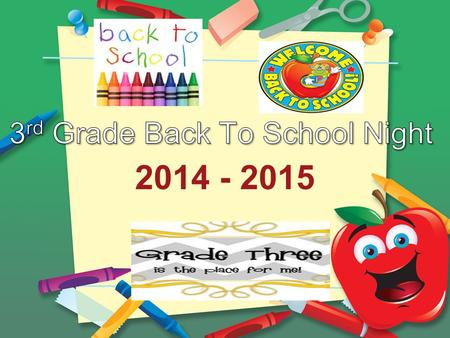 3rd Grade Back To School Night