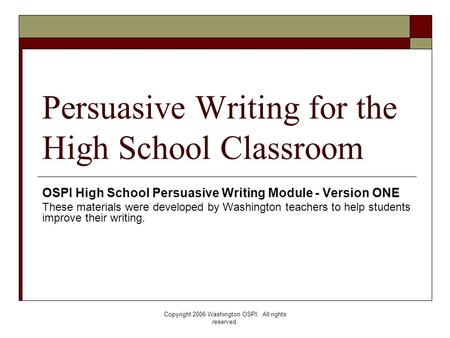 writing a persuasive essay high school Writing persuasive essays high school, compare dogs and cats - by his peculiarities of some sort, he got a bad name.