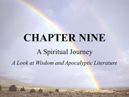 A Look at Wisdom and Apocalyptic Literature