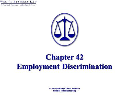 Chapter 42 Employment Discrimination