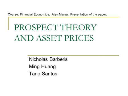 Seminar papers and presentations