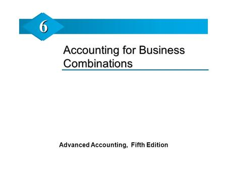 Advanced Accounting, Fifth Edition