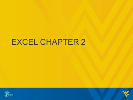 Excel chapter 2.