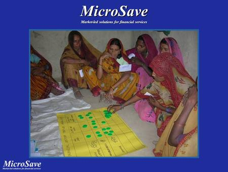MicroSave Market-led solutions for financial services.