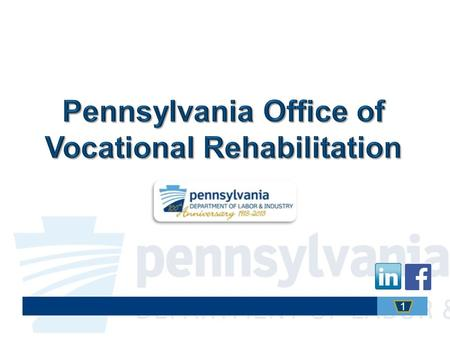 1. Link to OVR's Website The Pennsylvania Office of Vocational Rehabilitation (OVR) provides vocational rehabilitation services to help persons with disabilities.