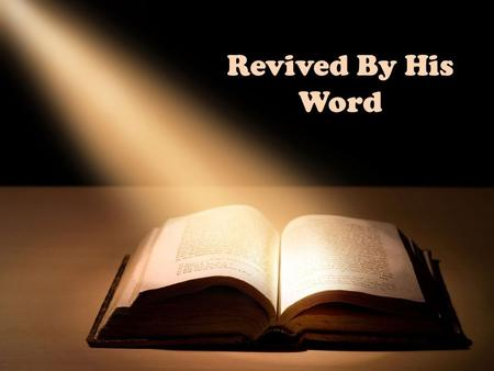 "Revived By His Word. ""The Everlasting Gospel"" The Good News Amidst the Judgement, Babylon, and the Mark of the Beast."
