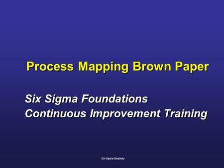 Process Mapping Brown Paper