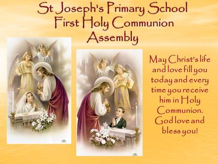 St Joseph's Primary School First Holy Communion Assembly