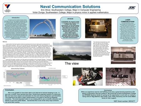 Naval Communication Solutions Conclusions While our experience was fun and fulfilling it was also a great learning experience with plenty of information.