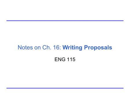 writing reports and proposals chapter 14
