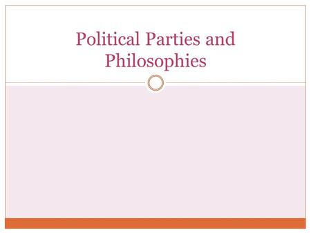 Political Parties and Philosophies. Political Spectrum.