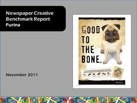 November 2011 Newspaper Creative Benchmark Report Purina.