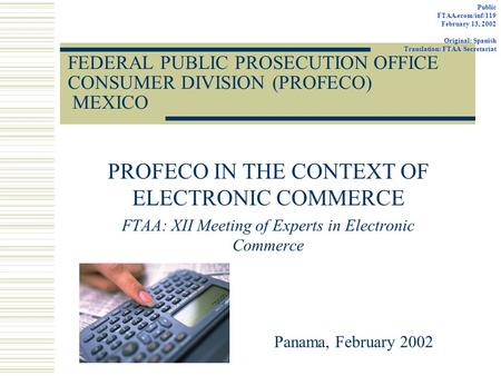 Ftaa joint government private sector committee of experts - Office of the consumer protection board ...